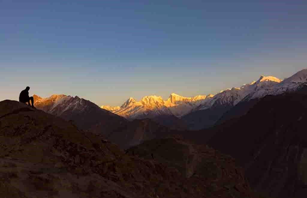 Sunset at Rakaposhi Mountain