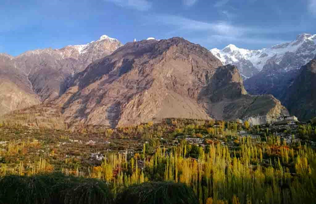 Panoramic view of Hunza Valley